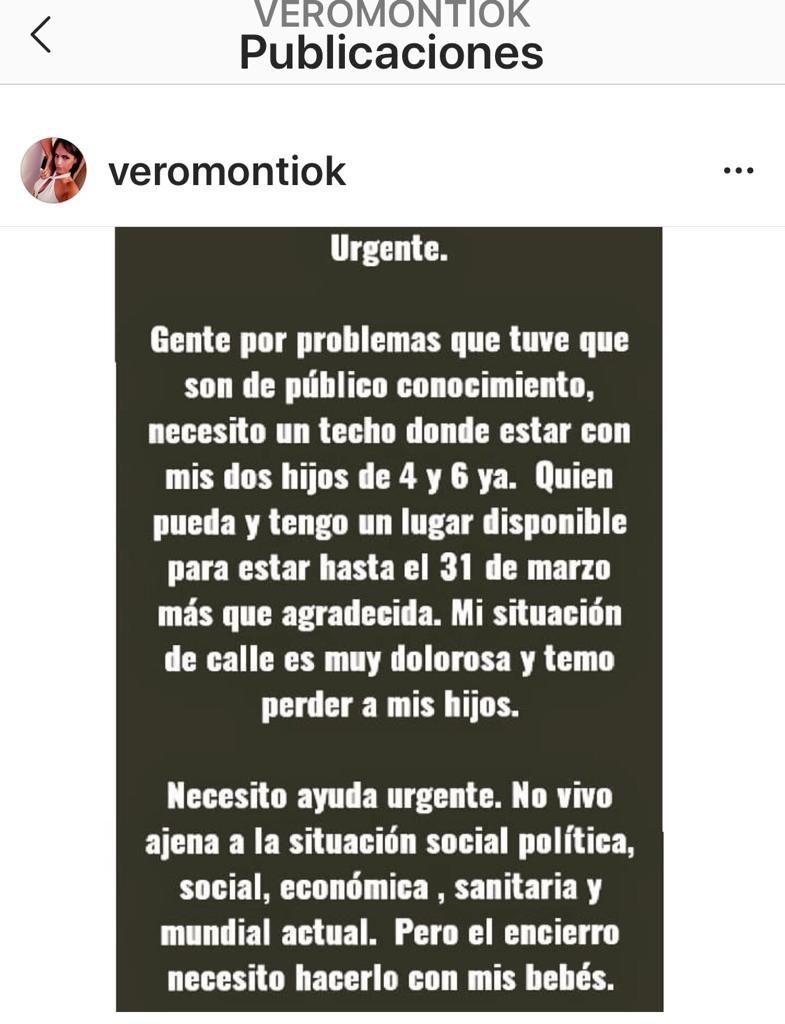 El desesperado pedido de Veronica Monti, la ex de Sergio Denis, en situación de calle