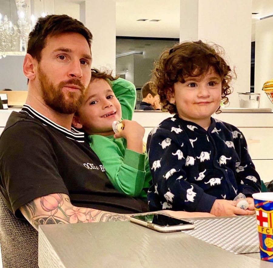 La familia Messi en cuarentena