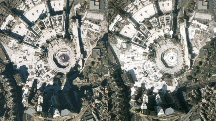 La Meca en enero y marzo.
