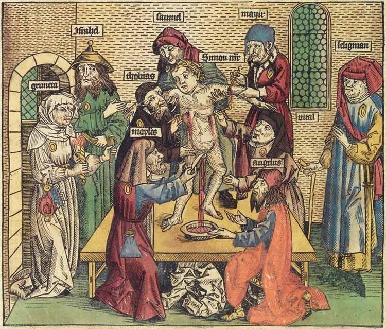 Martirio de San Simón de Trento.