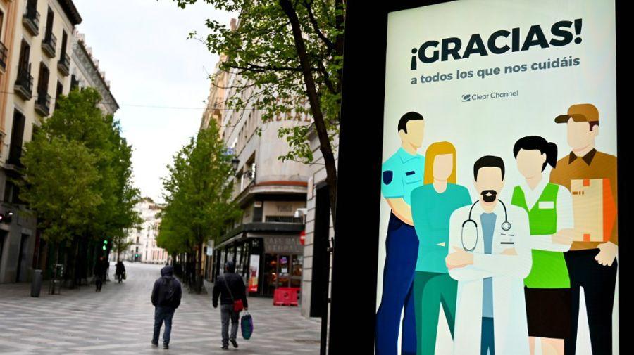 Desoladoras postales españolas en medio de la pandemia de coronavirus.