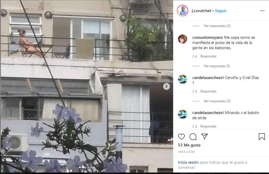 Los posteos de Curuchet en Instagram