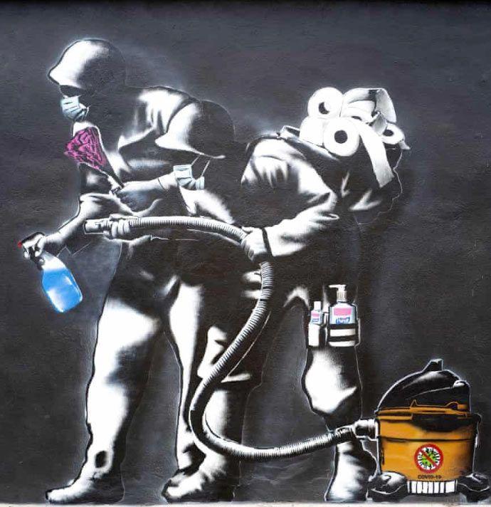 El arte callejero contra el coronavirus en el mundo