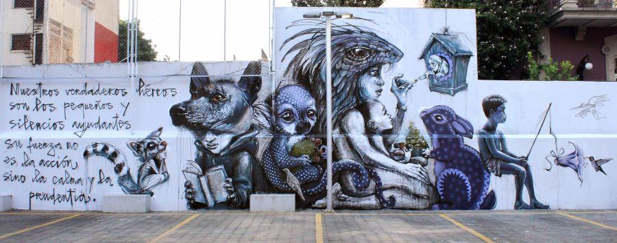Mural sobre el coronavirus en México