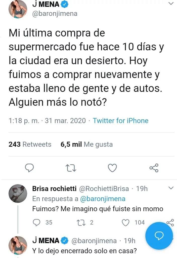 La contundente respuesta de Jimena Barón cuando la cuestionaron por salir con Momo