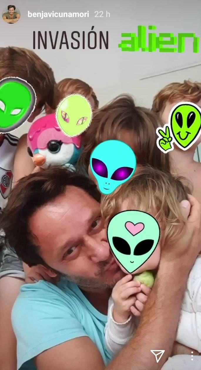 ¡Todos juntos! El divertido post de Vicuña con Rufina Cabré y sus hijos