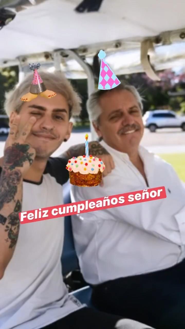 Fabiola Yáñez y Estanislao homenajearon a Alberto Fernández en el día de su cumpleaños