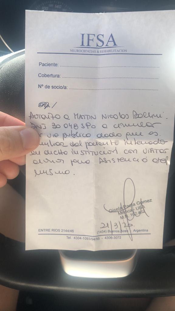 Cuarentena y un hermano con ACV, así pasa sus días Martín Baclini