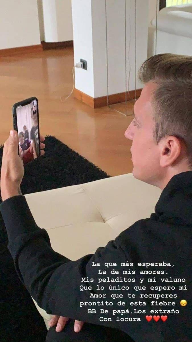 Maxi López, preocupado por la salud de su hijo