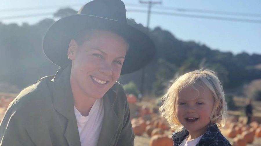 Pink confirmó que tuvo coronavirus junto a su pequeño hijo