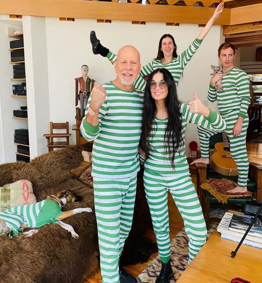 Demi Moore, Bruce Willis y su familia ensamblada en cuarentena