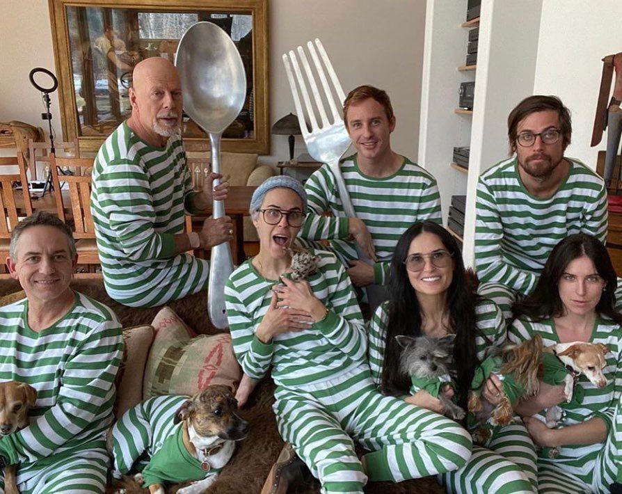 Demi Moore y Bruce Willis pasan la cuarentena juntos en familia