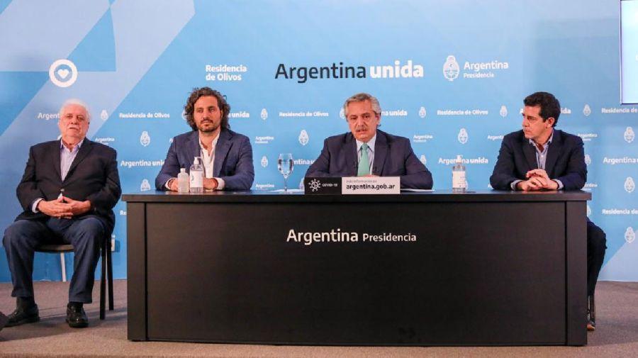 Alberto Fernández, en conferencia de prensa. Prórroga de cuarentena.