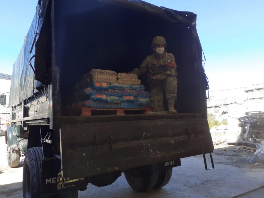Ejército Argentino presta ayuda alimentaria en La Matanza, Provincia de Buenos Aires. Gentileza: Ejército Argentino