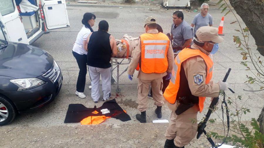 El efectivo de Prefectura baleado en Puerto Deseado fue rápidamente asistido, pero falleció poco después.