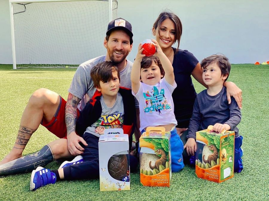 Familia Messi en Pascua 2020