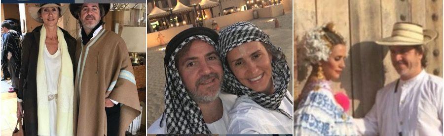 Ignacio Saénz Valiente y su mujer