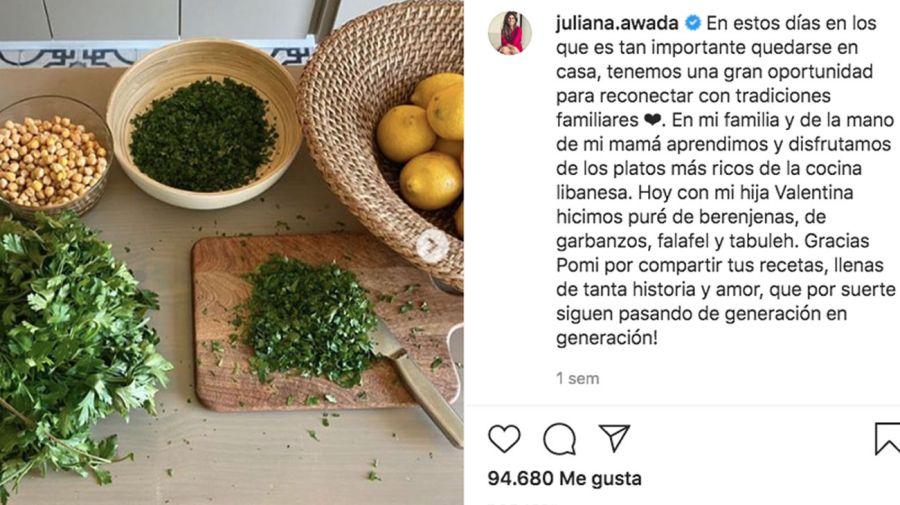 cocina de Juliana Awada 20200416.