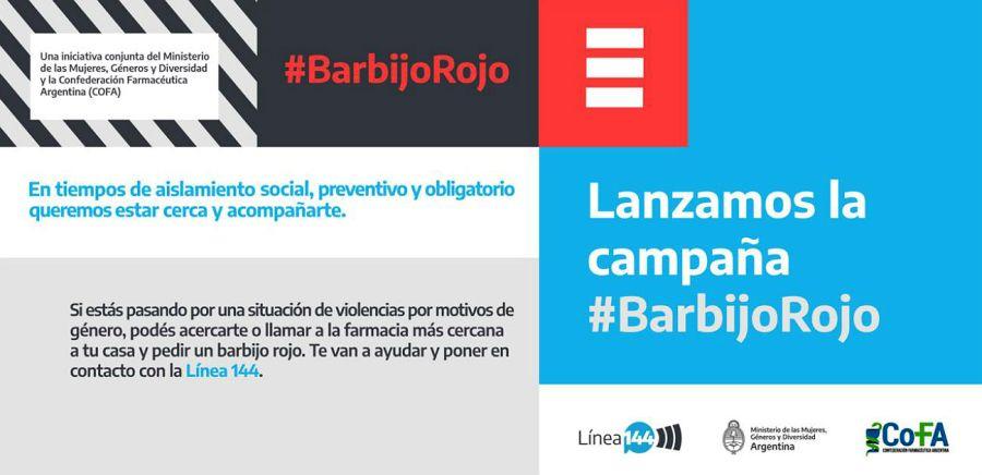 La campaña Barbijo Rojo.