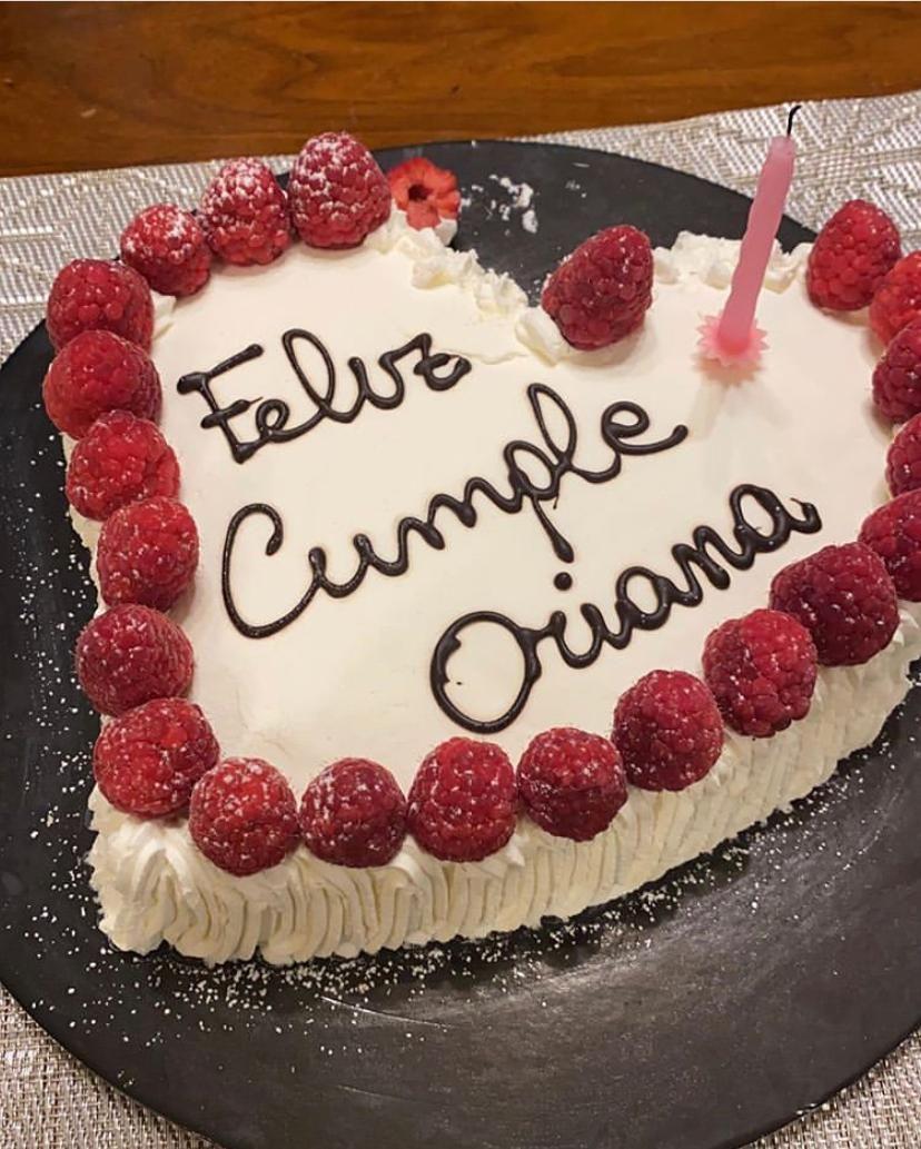 La torta del cumpleaños de Oriana Sabatini