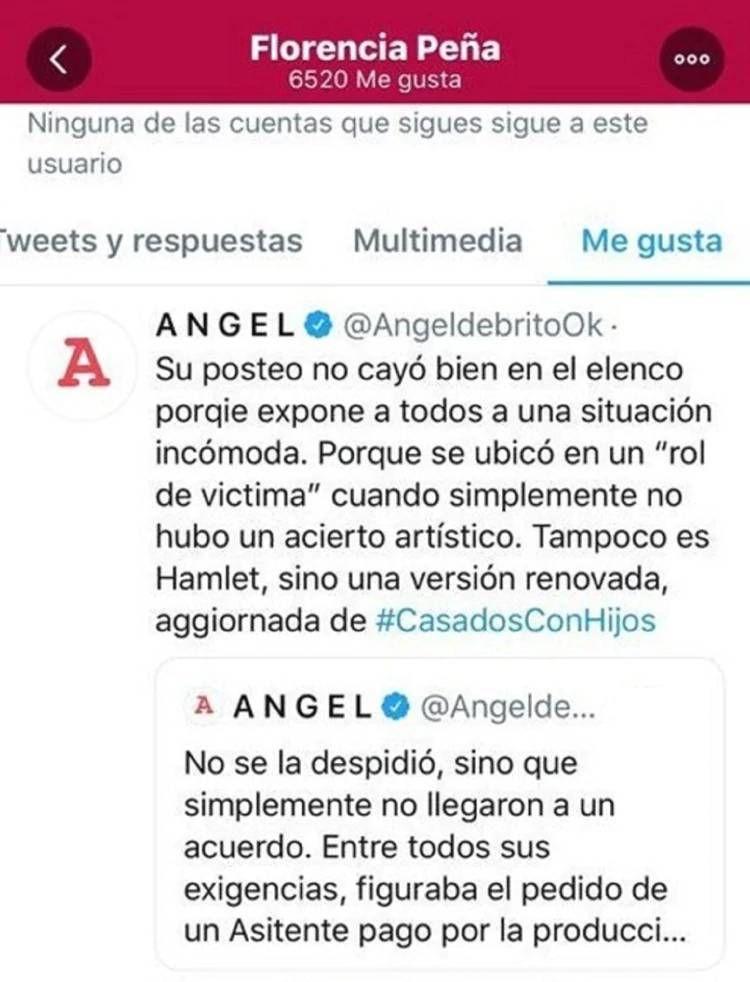 La reacción de Flor Peña tras el descargo de Érica Rivas