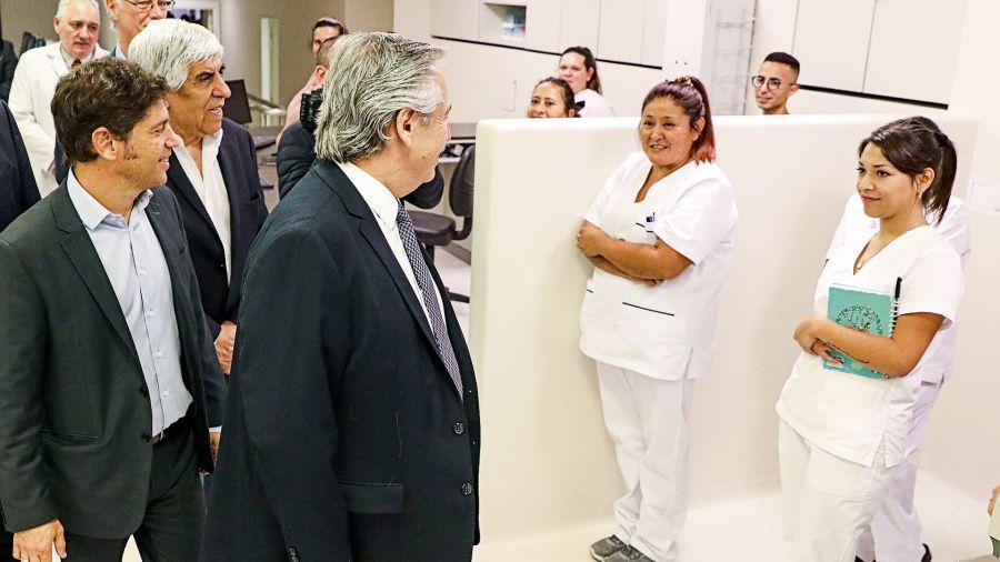 Moyano, Kicillof y Alberto Fernández