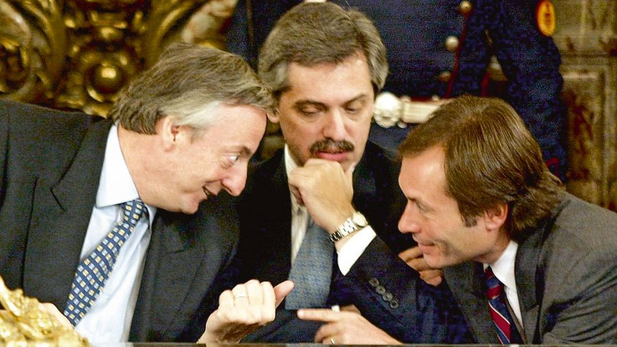 Néstor Kicherner, Alberto Fernández y Gustavo Béliz