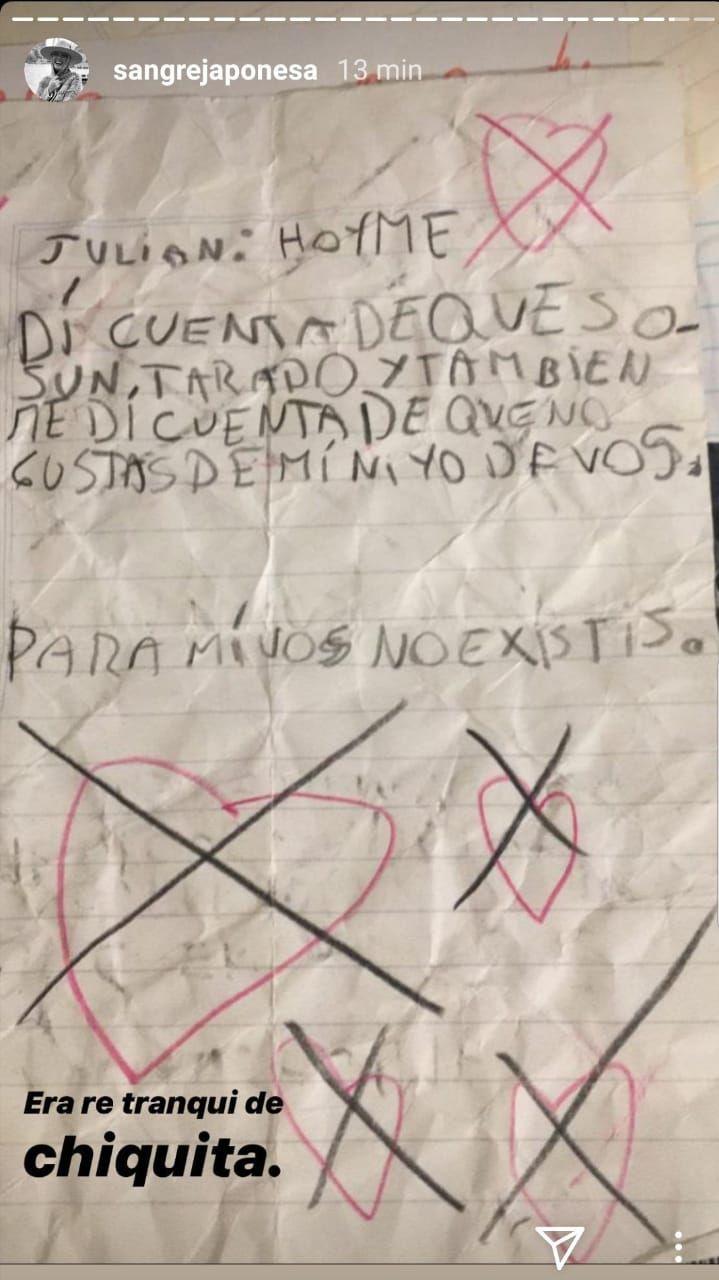 La actriz compartió un escrito de cuando era chica...¡y muy brava!