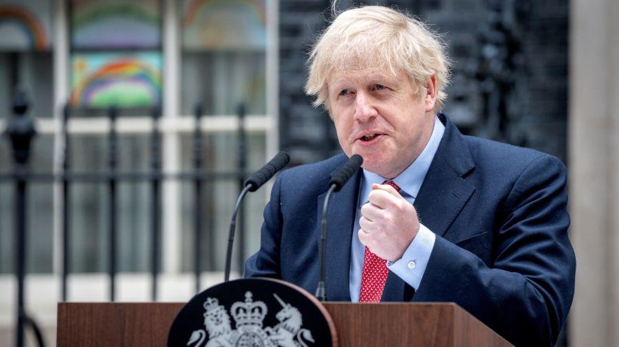 Boris Johnson, premier británico, en su regreso a las tareas.