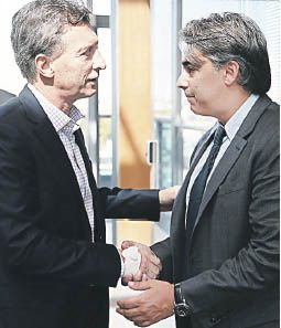 Ominami y Macri, en la campaña 2015.