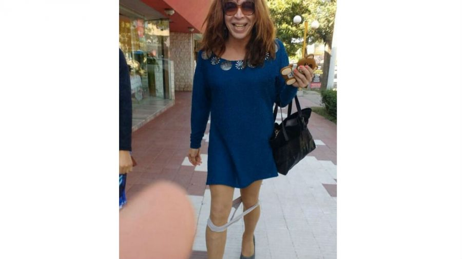 Lizy Tagliani con la bombacha caida