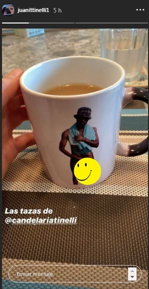 Juanita Tinelli escrachó a Cande y mostró la particular taza que usa para desayunar