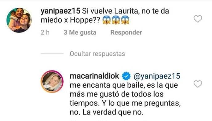 Maca Rinaldi habló de Laurita Fernández