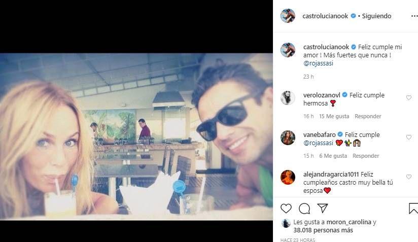 El romántico mensaje de Luciano Castro a Sabrina Rojas