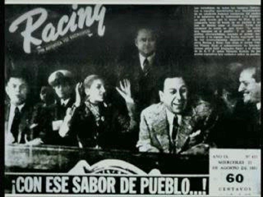 Racing Evita Perón