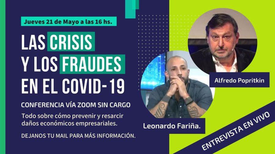 Inesperado: ahora Fariña da charlas para prevenir fraudes económicos