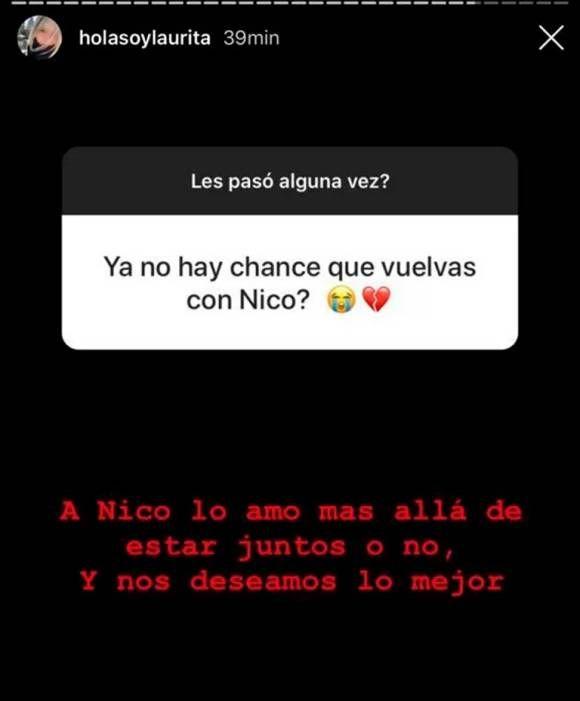 Laurita Fernández habló de la posibilidad de volver con Nico Cabré