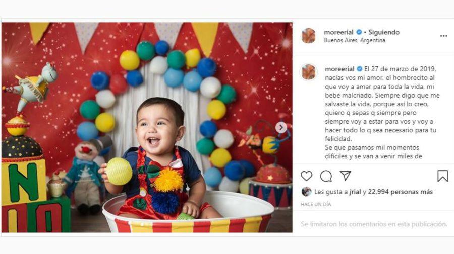 Mensaje de Morena a su hijo Francesco