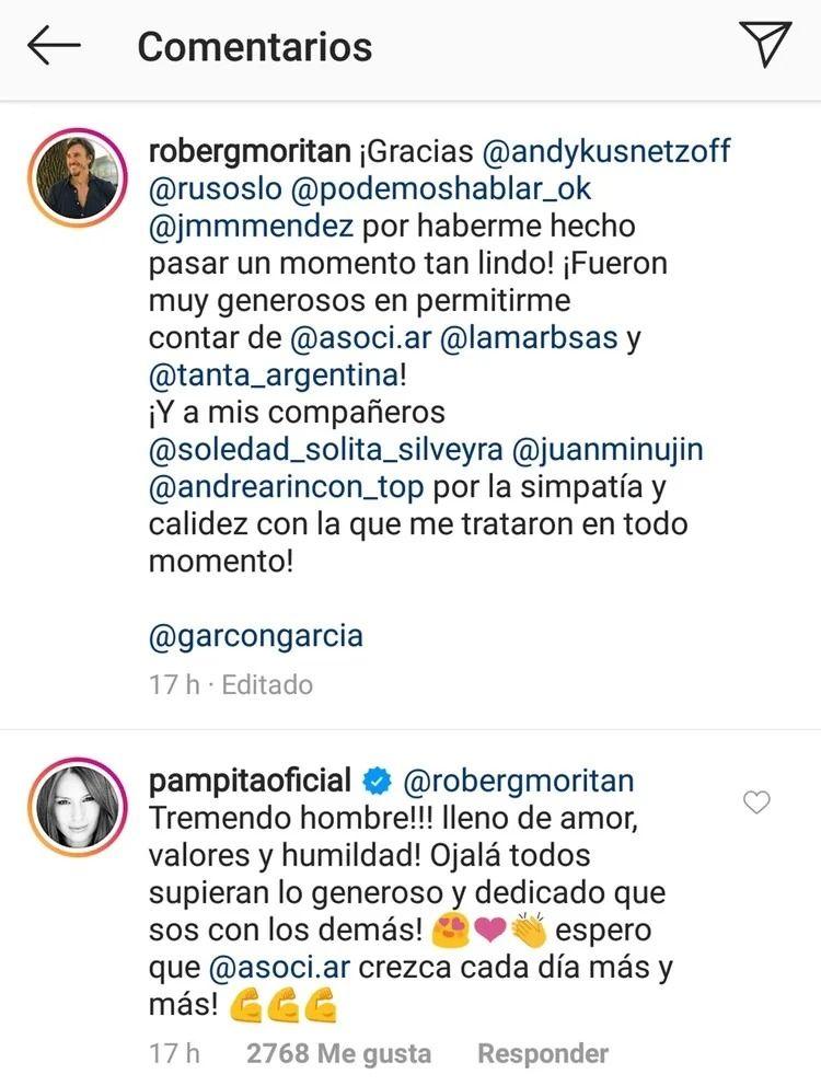 Pampita hizo una asombrosa declaración de amor a Roberto García Moritan