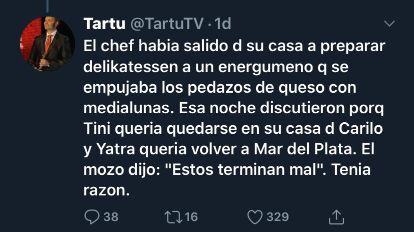 Tartu Tartúfoli detalla una discusión entre Tini Stoessel y Sebastián Yatra