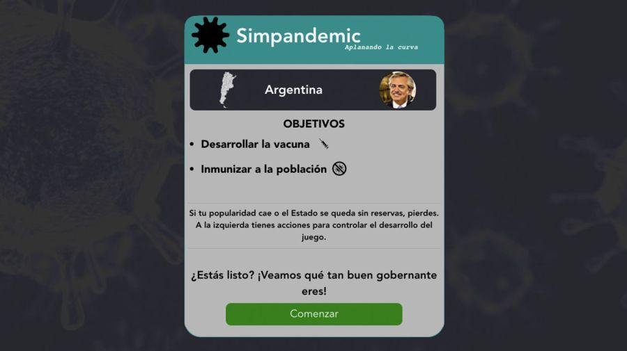 Simpandemic: el juego online en el que podes gobernar y combatir una pandemia