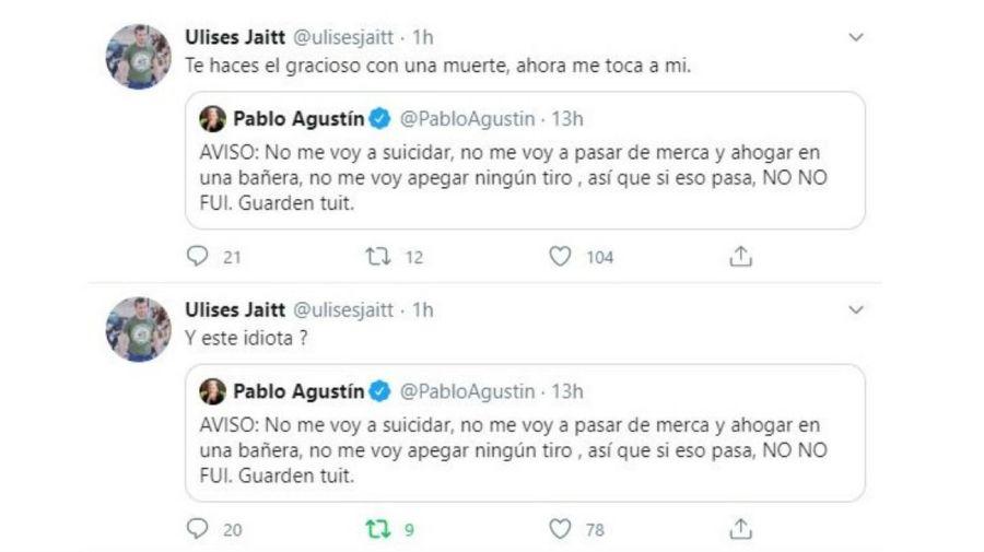 Furia de Ulises Jaitt contra Pablo Agustin
