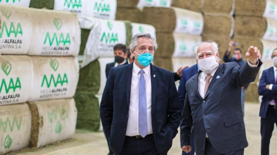 El grupo DAGMA inauguró Mega Alfalfa Argentina con la visita de Alberto Fernandez a Santiago del Estero.