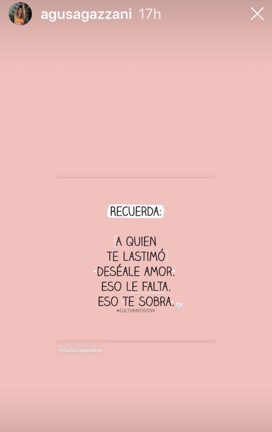 El mensaje de Agustina Agazzani que confirmar los rumores de ruptura con Martín Baclini