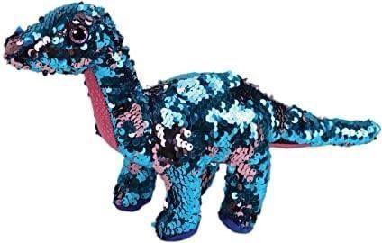 La mascota de los astronautas. Un dinosaurio de peluche.