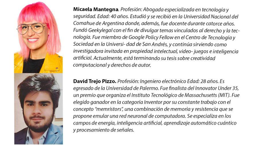 Micaela Mantegna y David Trejo Pizzo, de la Asamblea del Futuro de Editorial Perfil.