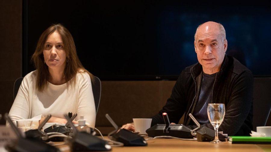 ZOOM Horacio Rodríguez Larreta, y María Eugenia Vidal. 20200601