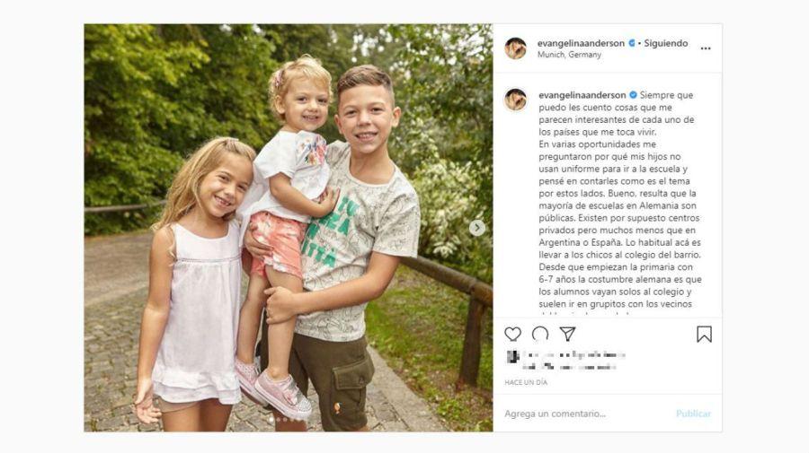 Evangelina Anderson hijos