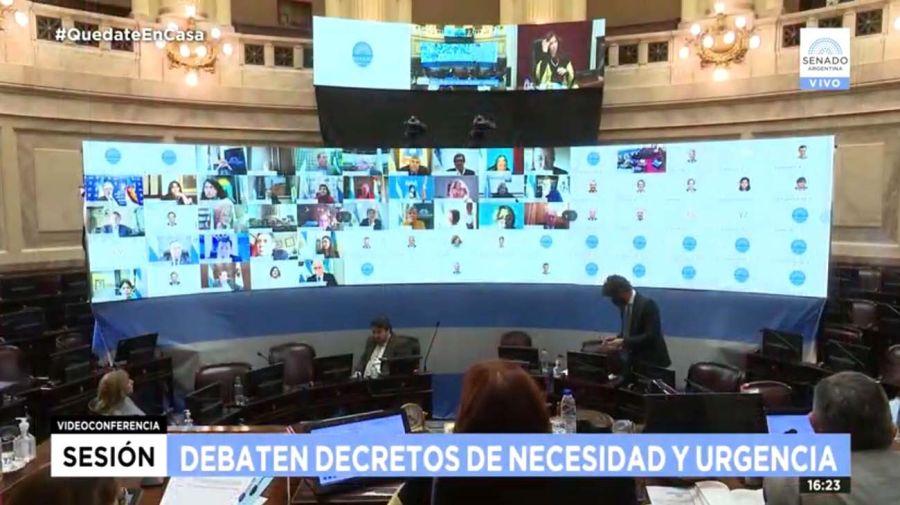 El Senado volvió a sesionar de forma virtual y la oposición se desconectó-20200604