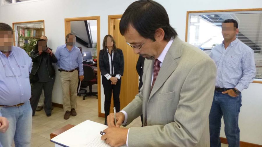 En 2014 cuando asumió como fiscal de Esquel.
